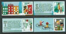 GREAT BRITAIN 2014 CHRISTMAS SET OF 4 WITH ELLIPTICAL PERFORATION FINE USED