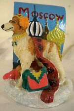 Dog Figurine-Borzoi-Moscow/Vi p-Standing-2002-Colorful-W himsical-Very Cute!