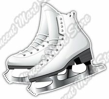 "Figure Skating Ice Dancing Skates Car Bumper Window Vinyl Sticker Decal 4""X5"""