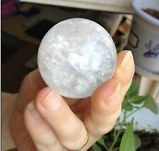 NATURAL CLEAR QUARTZ CRYSTAL SPHERE BALL HEALING GEMSTONE 40MM + FREE STAND