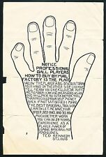 c. 1902 EARLY BASEBALL GLOVE Maker HAND SIZING CHART/FLYER, Extremely Rare!
