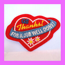 Patch Thank You Volunteers for a JOB WELL DONE Girl Scout Heart Multi=1 Ship Chg