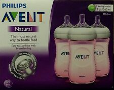 Philips Avent, Natural, Baby Bottles, 9oz - BPA FREE - 3 Pack
