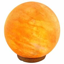 Natural Himalayan Globe Sphere Salt Lamp Ionic Air Purifier on Wood Base w/ Cord