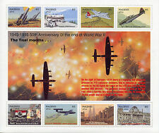 Maldives 1995 MNH WWII VE Day 50th End World War II 8v M/S Fighter Planes Stamps