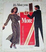 1983 ad page - More Cigarette sexy girl SELA WARD smoking vintage tobacco OLD AD