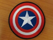 Marvel Comics Captain America Logo Embroidered Iron on Patch (large star)