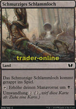 4x Schmutziges Schlammloch (Polluted Mire) Commander 2015 Magic