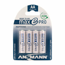 ANSMANN maxE Pro 2100 cycles Rechargeable Batteries Low Self Discharge 4 Pack