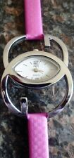 New Designer Ladies/Womens Wrist Watch in Purple Color Leather Strap + Warranty