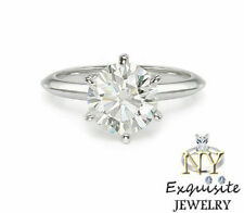 .50ct HALF CARAT H/VS2 ROUND GENUINE DIAMOND 14K GOLD SOLITAIRE ENGAGEMENT RING