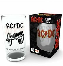 AC/DC ROCK Official Licenced ACDC 500ml Large Glass BRAND NEW in Gift Box