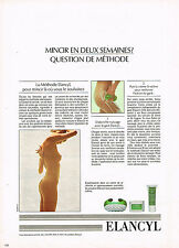 PUBLICITE ADVERTISING 034   1983   ELANCYL   cosmétiques   DU CORPS