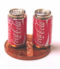 1:12 scala 2 vuoto COCA COLA COKE DRINK LATTINA DOLLS HOUSE miniatura PUB BAR DRINK