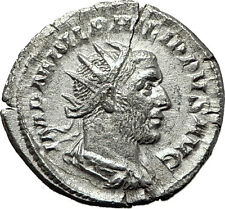 PHILIP I 'the Arab' 246AD Silver Ancient Roman Coin Good luck Felicitas i59213
