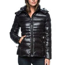 Andrew Marc Women's Detachable Hood  Short Premium Down Jacket Coat - Size XL