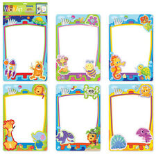Child's DRY ERASE BOARD wall sticker DINOSAURS decal draw write color dino wipe