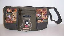 Disney MICKEY MOUSE Multi-Compartment Cotton Canvas SHOULDER BAG Handbag Tote