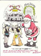 WENDY PINI signed & hand-colored Elfquest Christmas card from 1978