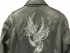 Womens Harley-Davidson Leather Jacket - Studded Eagle - Large
