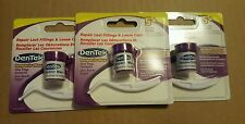 3 x DENTEK Tooth Filling 5+ Repair Kit Temparin Max Pain Reliever Teeth Caps