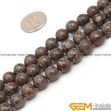 "8mm Round Brown Jasper Gemstone Loose Beads For Jewelry Making 15"" Yao-Bye"
