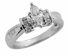 SOLID 14K GOLD 1.05 CARAT MARQUISE DIAMOND ENGAGEMENT RING ~ CLEARANCE SALE!