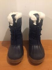 ARMANI EXCHANGE Reflective Navy Snow Boots Size 1.5 Junior/ EU 33 - 34 RRP £165