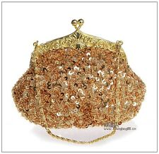 Pearl Clutch Bag Beaded Prom Party Bridal Handbag Wedding Evening Purse E03162#