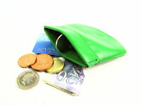 Ladies Mens Snap Top Coin Pouch Premium High Quality Real Leather Wallet Purse