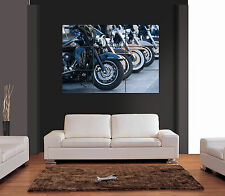 HARLEY DAVIDSON MOTORCYCLES Vector Giant Wall Art Print Picture Poster