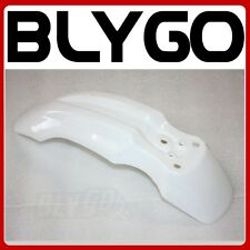 White Plastic Front Wheel Mud Guard Fender CRF50 Style PIT PRO Trail Dirt Bike