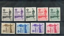 ITALIAN SOMALILAND Sc B38-51(SA 199-212)**F-VF NH 1935 KING'S VISIT SET $1800