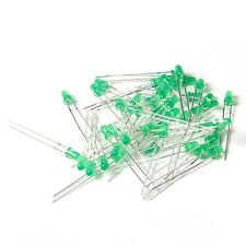 100PCS Diffused LED 3MM GREEN COLOR GREEN LIGHT Super Bright CA NEW