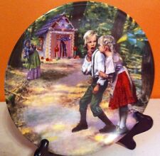 1981 HANSEL & GRETEL COLLECTOR PLATE WRITTEN IN GERMAN Nursery Rhyme plate