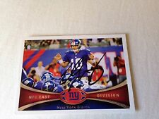 Eli Manning Autographed 12 Topps PERSONALLY OBTAINED w/COA