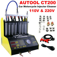 AUTOOL CT200 Petrol Car Motorcycle Ultrasonic Fuel Injector Cleaner Tester