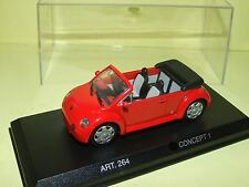 VW NEW BEETLE CABRIOLET Decapote Rouge Concept DETAILCARS 264 1:43