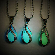 Teardrop Magic Fairy Glow In The Dark Pendant Necklace Chain Jewelry ACG M
