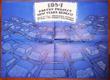 Poetry Project New Year's Benefit Poster 1984 Bernadette Mayer Hannah Weiner