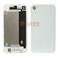 Back Cover Housing Case Battery Door Rear Glass for iPhone 4 GSM AT&T (White)