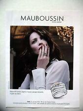PUBLICITE-ADVERTISING :  MAUBOUSSIN Bague Kiff & Kiss  2016 Elena Shilnikova