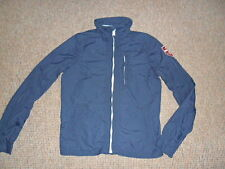 Hollister men's jacket (SOLANA) size M blue zipped waterproof
