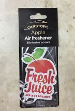 NEW CAR STORE APPLE  AIR FRESHENER ELIMINATES ODOURS BEST GIFTS