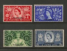 Morocco Agencies Tangiers #579-582 VF MNH - 1953 Coronation Issue