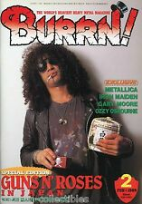 Burrn! Heavy Metal Magazine February 1989 Japan Guns N Roses Slash Slayer