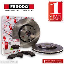 Ferodo BMW 525 D E60 Series 2.5 Td 03- Front Brake Discs & Pads Fit Teves System