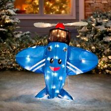"Rudolph Misfit Toy Airplane 24"" 3-D Tinsel Outdoor Christmas Decor Yard Art"