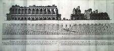"""PIRANESI G.Battista Le Antichità Romane1756 """"TEATRO MARCELLO"""" TOMO IV TAV.XXVIII"""