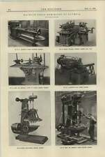 1920 Jones Shipman Drilling Machine Baush Multi Spindle